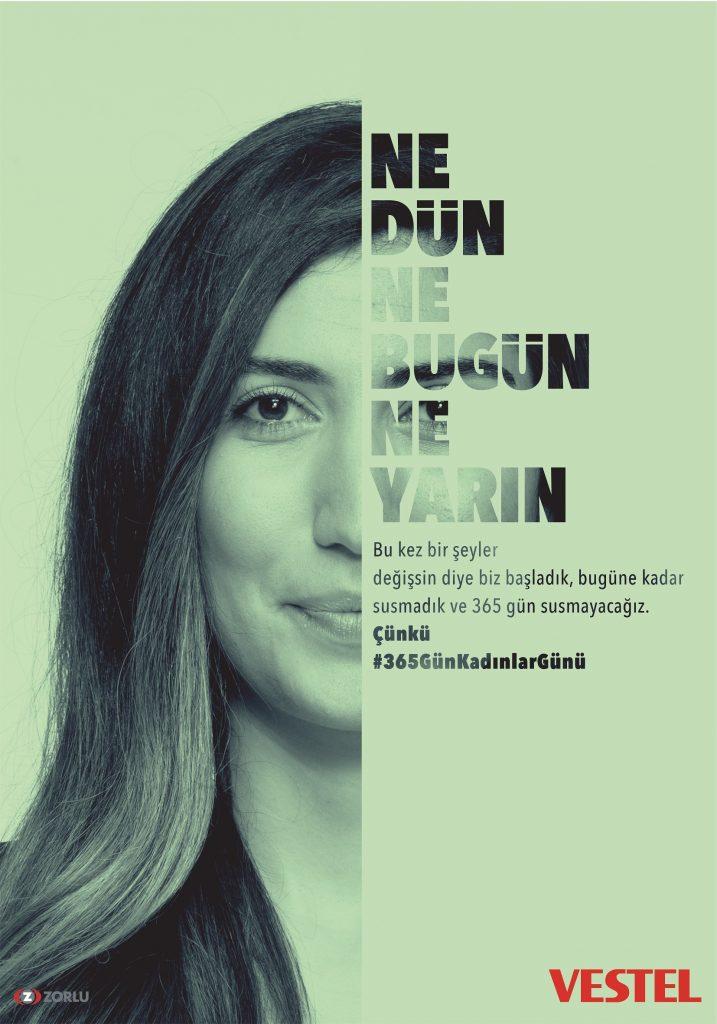 Vestel'den yeni kampanya: Sadece 8 Mart değil #365günkadınlargünü 1551768306 VESTEL KADINLAR GUNU FABRIKA 717x1024