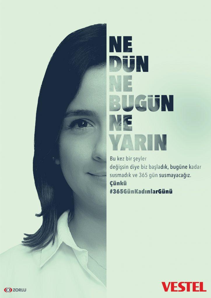 Vestel'den yeni kampanya: Sadece 8 Mart değil #365günkadınlargünü 1551768307 VESTEL KADINLAR GUNU 1 724x1024